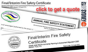 Click to contact us about Fire Safety Certificates