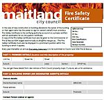 Fire certificate for Maitland City Council